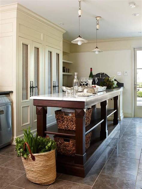 Kitchen Island Storage Ideas And Tips Low Shelves