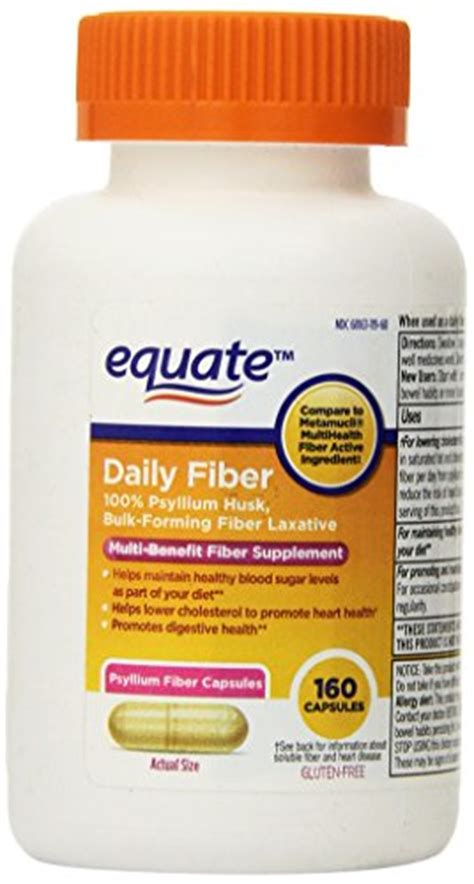 Fiber Herb Tablets Original equate fiber therapy for regularity fiber supplement capsules 160 count bottle health help store