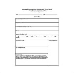 general business plan template lesson plan template 8 free sle exle