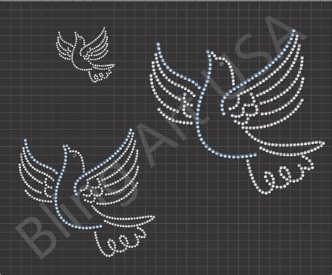 dove rhinestone file templates pattern bling