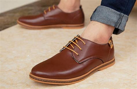 foru new 2015 leather shoes casual leather lace up