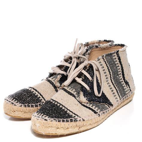 Setelan Stripe Chanel Gray chanel canvas striped lace up espadrilles 40 beige grey 93937