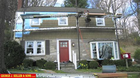 House With A Porch by Vinyl Cedar Shake Siding Before And After 3 Of 3 Youtube
