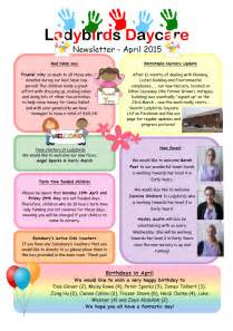 daycare newsletter templates past newsletters ladybirds daycare barnstaple