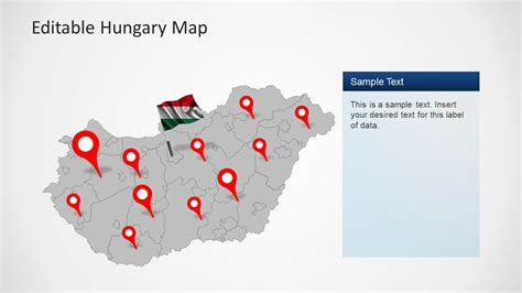 power point themes hungary editable hungary map template for powerpoint slidemodel