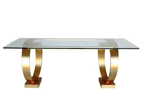 Gold Table L Sculptural Dining Table Gold Leaf Llorente Furniture
