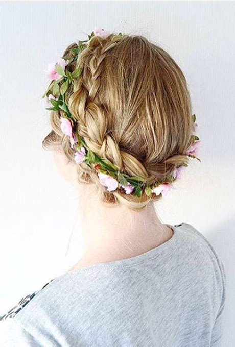 Wedding Hair Braid With Flowers by Braided Flower Crown Wedding Hairstyles Photos Brides