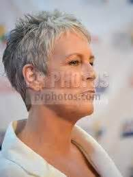 curtis haircut back view super short pixie jamie lee curtis in her signature