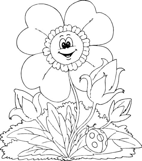 coloring pages of spring flowers spring flower coloring page coloring com