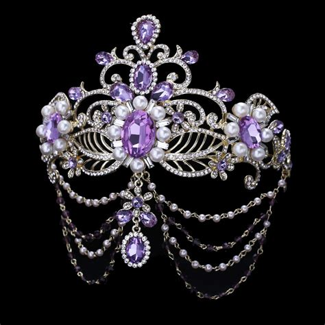 Tiara Princess Crown Mahkota Permata Type I buy wholesale crowns and tiaras purple pageant from china crowns and tiaras purple