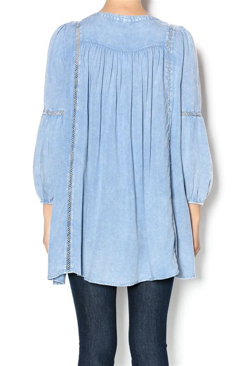 Denim Tunik en creme denim boho tunic from california by mandyz