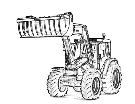 Printable Coloring Pages Tractors | free printable tractor coloring pages for kids
