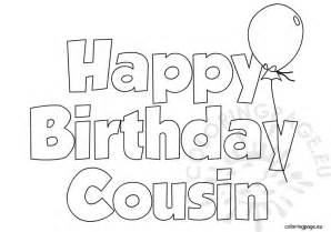 happy birthday cousin balloon coloring page