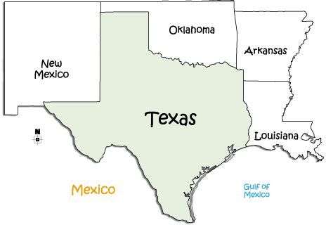 texas border towns map map of texas and surrounding states my