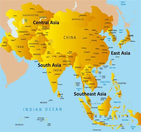 asia map with names asia map with country names free world map
