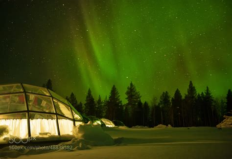nighttime in a glass igloo by kristin repsher 500px