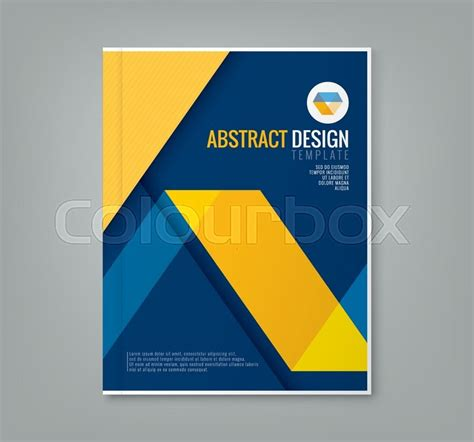 download layout majalah cdr abstract yellow line design on blue background template