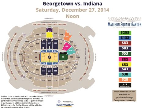 Square Garden Will Call by Georgetown Men S Basketball Vs Indiana Georgetown