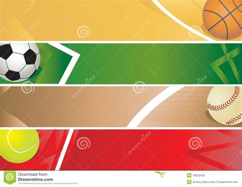 blank banner template sport balls banner royalty free stock images image 18052429