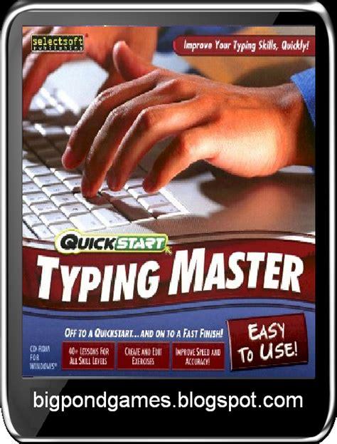 typing games full version free download typing master 7 0 free download full version big pond games
