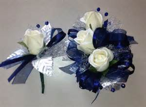 navy blue corsage navy blue silk corsage n boutonniere set by florescencebydesign 26 95 prom flowers