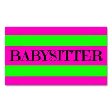 babysitting business cards template free babysitting gift certificate template free