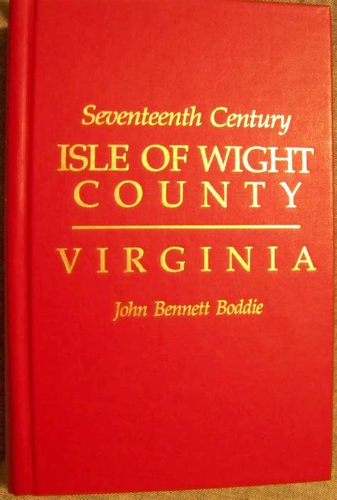 seventeenth century of isle of wight county va books bridger family of virginia and carolina