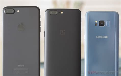 Iphone 7 Vs 8 Plus Gsmarena by Oneplus 5 Vs Galaxy S8 Vs Iphone 7 Plus Architecture And Interface
