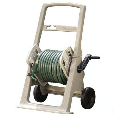 suncast 150 ft mobile hose cart garden water hose reel