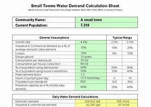 design criteria water supply system hydrogeology toolbox