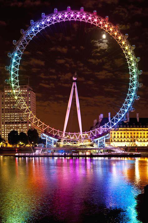 Metal Art Home Decor big wheel aka london eye lit up with photograph by axiom