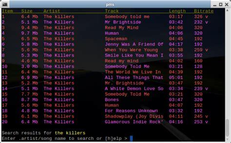 info mps it mps ecoutez de la musique en ligne de commande korben