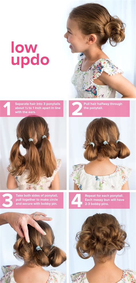 how to do easy hairstyles for kids step by step 5 fast easy cute hairstyles for girls low updo updo