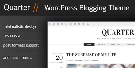 themeforest zurb foundation quarter themeforest responsive wordpress blogging theme