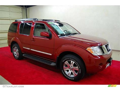 red nissan 2008 2008 red brawn nissan pathfinder le 49390439 gtcarlot