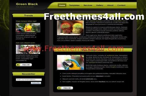 themes css and html green black css template free download