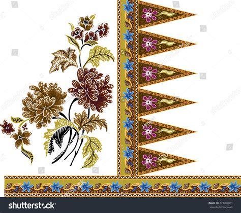 batik pattern vector illustrator batik patternbeautiful art background design fabric stock