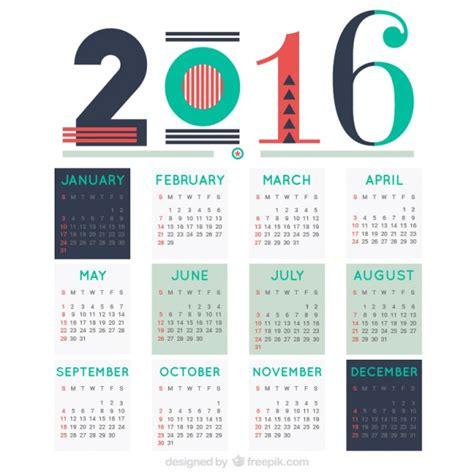 Was Ist Ein Calendrier Zusammenfassung 2016 Kalender Der Premium Vektor