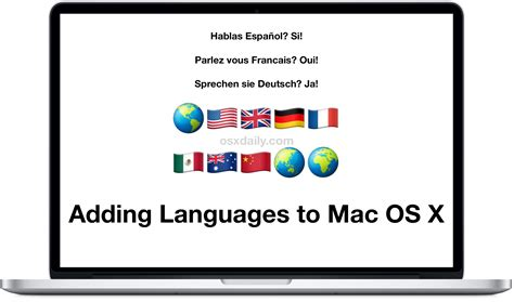 how to add switch languages in mac os x