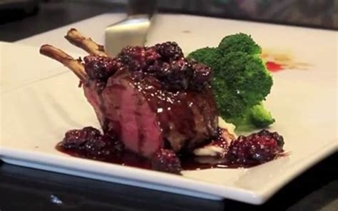 What Sauce Goes With Rack Of by Rack Of Venison With A Caramelized Shallot Blackberry