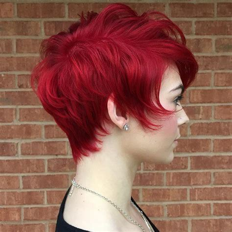 cherry hair pictures short hair short cherry red hairstyle for thin hair hair