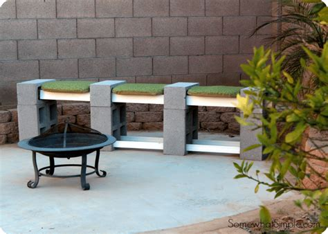 cinderblock bench how to make a cinder block bench somewhat simple