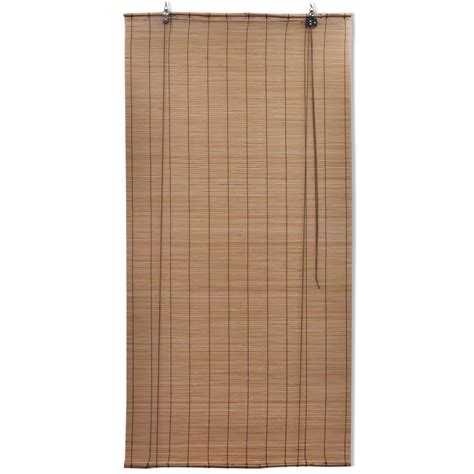 Bamboo Roller Blinds Vidaxl Co Uk Brown Bamboo Roller Blinds 80 X 160 Cm