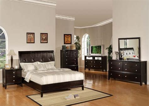 oxford bedroom furniture 14300 oxford bedroom set in espresso finish by acme
