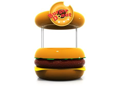 design booth burger burger donut logo booth design on behance