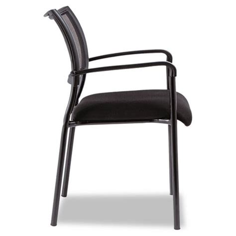 Alera Chairs by Alera Eikon Series Stacking Mesh Guest Chair New Black