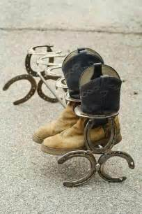 Boot Rack Made Out Of Horseshoes by Boot Rack Made From Horseshoes Western Things