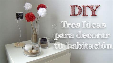 decorar tu habitacion diy diy 3 ideas muy f 225 ciles para decorar tu habitaci 211 n youtube