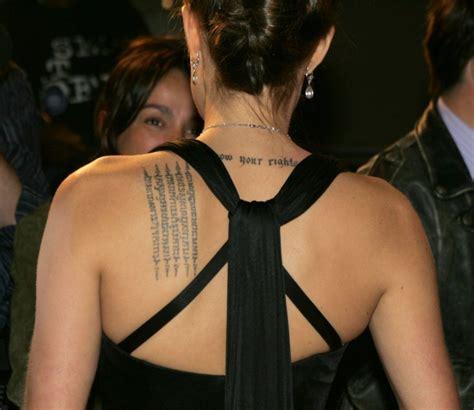 angelina jolie x tattoo meaning sacred fearless angelina jolie tattoo designs meanings