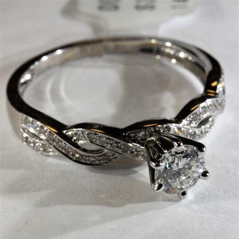 14k white gold infinity ring infinity engagement forever diamonds